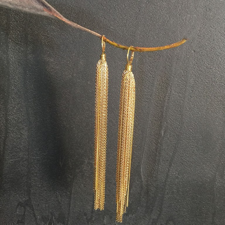 Gold Falls Earrings
