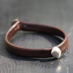 Bracelet Cuir Caillou