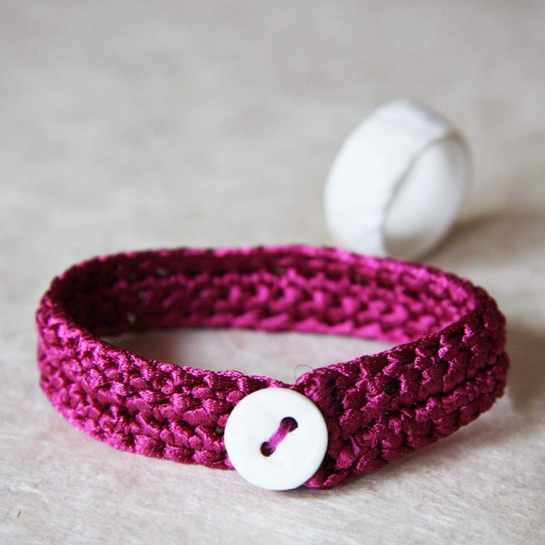 Bracelet Maille Fushia