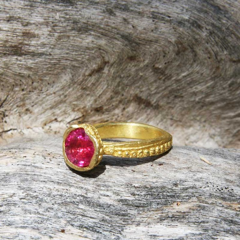 Bague Garnule Secret d'Orient Tourmaline Rose