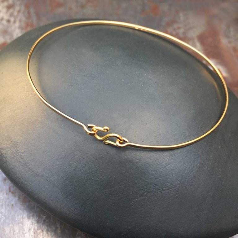 Bracelet Jonc Or Style Indien