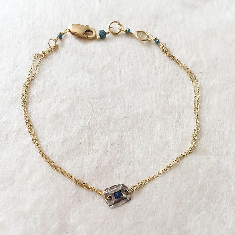 Bracelet fin Diamant Bleu