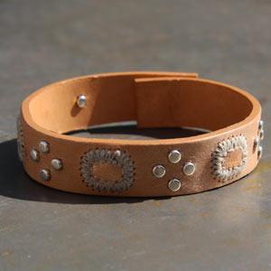 Bracelet cuir Pasadena naturel