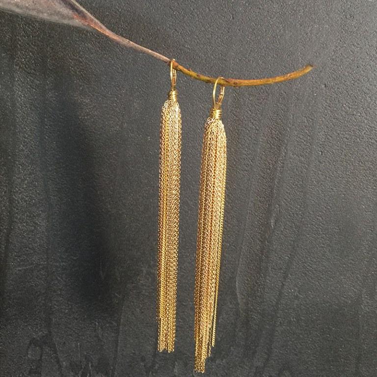 Gold Falls Earrings
