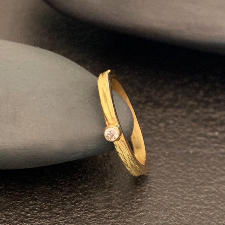 Bague Fine Scortea 1 Diamant