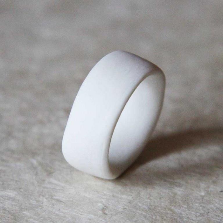 Anneau Porcelaine Blanche