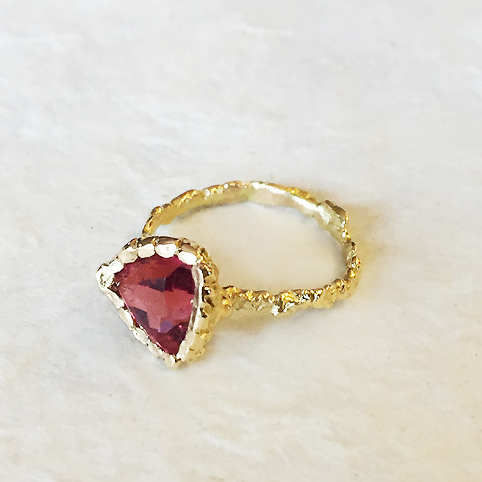 Bague Triangle Tourmaline