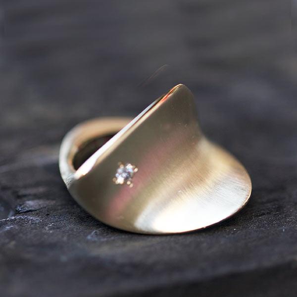 Bague Feuille Bronze/Or