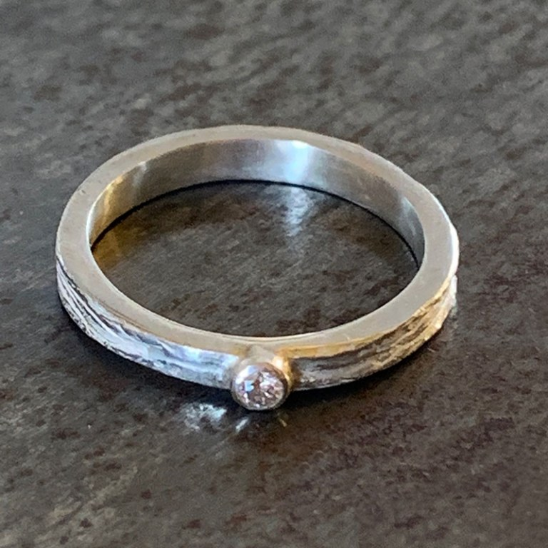 Bague Scortea Argent Diamant