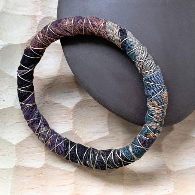 Bracelet Tissu Chocolat