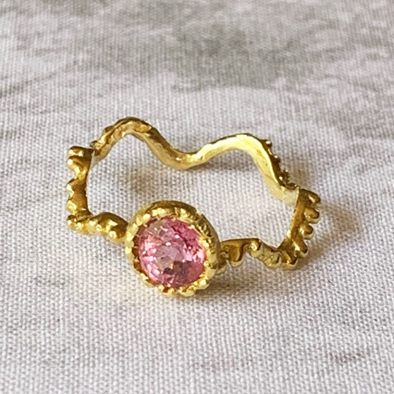Bague Ondine Spinelle Rose