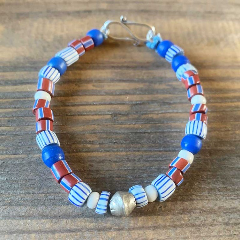 Bracelet Simple bleu blanc rouge