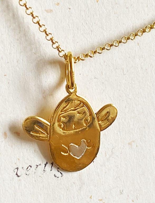 Collier Médaille Mon Ange Vermeil