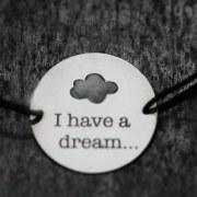 Bracelet médaille I have a dream...