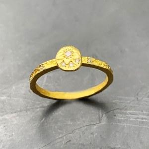Bague Fine or jaune diamants