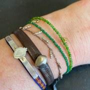 Bracelet Agate Verte Sapin