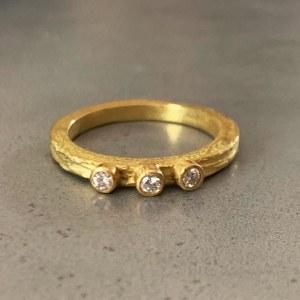 Bague Fine Scortea 3 diamants