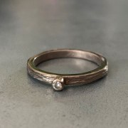 Bague Fine Scortea Or Gris