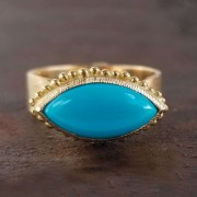 Bague Marquise Turquoise