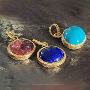 Pendentif Cabochon Turquoise