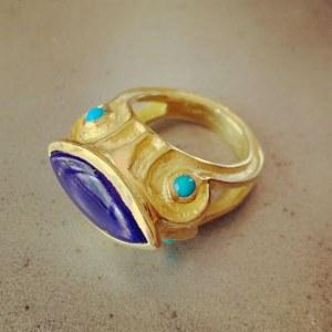 Bague Etrusque Bleue