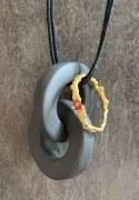 Collier 2 Anneaux Porcelaine