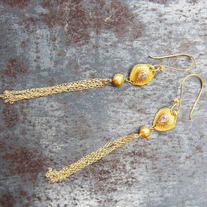 Boucles d'oreilles Jaipur Diamants Roses