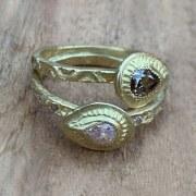 Bague Diamant Brun