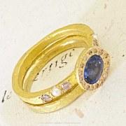 Bague Sentiment Saphir & Diamants