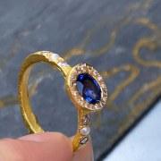 Bague Saphir & Diamants