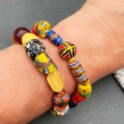 Bracelet Kiffa & Perles or de Perse