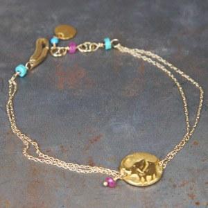 Bracelet Eléphant/Papillon