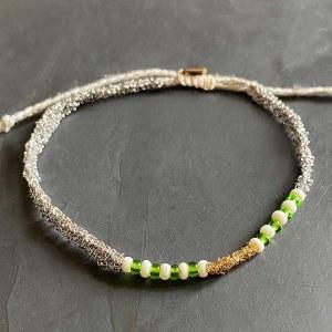 Bracelet Fin Azila Silver & Vert