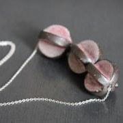 Collier céramique rose