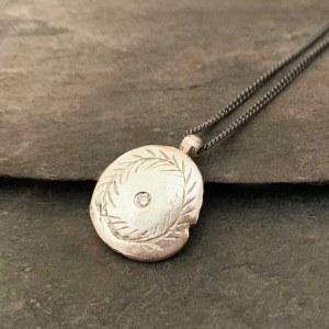 Pendentif Médaille Céleste Diamant