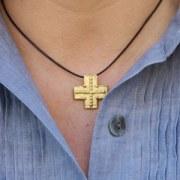 Pendentif Croix Perlée