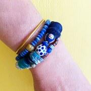Bracelet Simple bleu blanc rouge