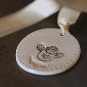 Médaille Porcelaine Ange Platine